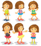 Brunette kids Stock Photo