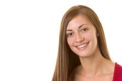Brunette-Lächeln Stockfotos