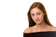 Brunette-Lächeln Lizenzfreies Stockbild