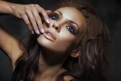 brunette lady Royalty Free Stock Image