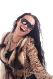 Brunette laugh Royalty Free Stock Image