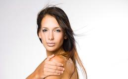 Brunette lindo. imagem de stock
