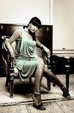 Brunette lindo Fotografia de Stock