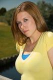 Brunette lindo Fotografía de archivo