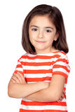 Brunette little girl Royalty Free Stock Photo
