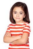 Brunette little girl Royalty Free Stock Photo
