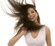 Brunette with long hair Royalty Free Stock Photography