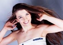 Brunette long hair girl Stock Photography
