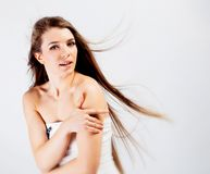 Brunette long hair girl Royalty Free Stock Photo