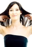 Brunette with long hair Stock Photography