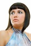 Brunette méditatif Photo stock