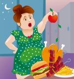 Brunette möchte Gewicht verlieren Stockfoto
