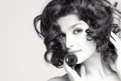 Brunette magnifique photos libres de droits