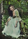 Brunette magnifique photographie stock