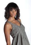 Brunette magnifique dans la robe de soirée Photos libres de droits