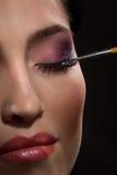 Brunette make-up Stock Photo