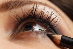 Brunette make-up Royalty Free Stock Image