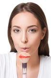 Brunette makeup beauty. Royalty Free Stock Photo