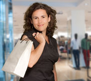 Brunette at the mall Stock Image