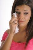 Brunette met een gebroken hart Stock Foto
