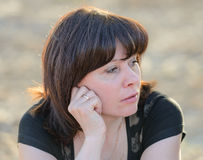 Brunette middle-aged Royalty Free Stock Photography