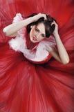 Brunette mignon photo stock