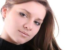 Brunette mignon Photos libres de droits