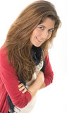 Brunette mignon Images libres de droits