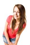 Brunette mignon de l'adolescence. Photographie stock