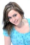 Brunette mit großen braunen Augen stockbilder
