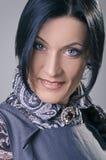 Brunette mit Zopf Stockbilder