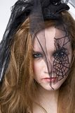 Brunette Model in Goth Stock Photo