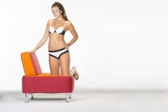 Brunette Model in Lingerie Royalty Free Stock Photography