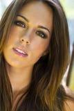 Brunette Model Outdoors Stock Images
