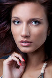 Brunette model portrait Stock Photography