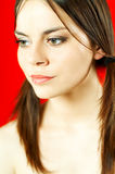 Brunette model portrait Stock Photo