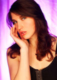 Brunette model pose Royalty Free Stock Images