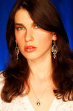 Brunette model pose Stock Photography