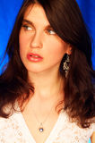 Brunette model pose Stock Images