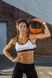 Brunette Model Working Out Stock Photography