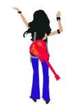brunette n rock roll στοκ εικόνες