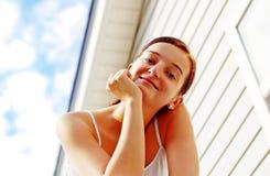 Brunette Nice Girl Stock Image