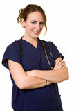 Brunette nurse Stock Photography