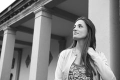 Brunette Outdoor Royalty Free Stock Photography