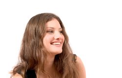 Brunette with perfect teeth Stock Photos