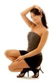 Brunette Pin-oben Stockfoto
