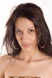 brunette portrait 图库摄影
