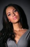 brunette portrait woman young Στοκ φωτογραφία με δικαίωμα ελεύθερης χρήσης