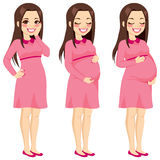 Brunette Pregnant Woman Stock Photos