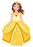 Brunette princess royalty free illustration